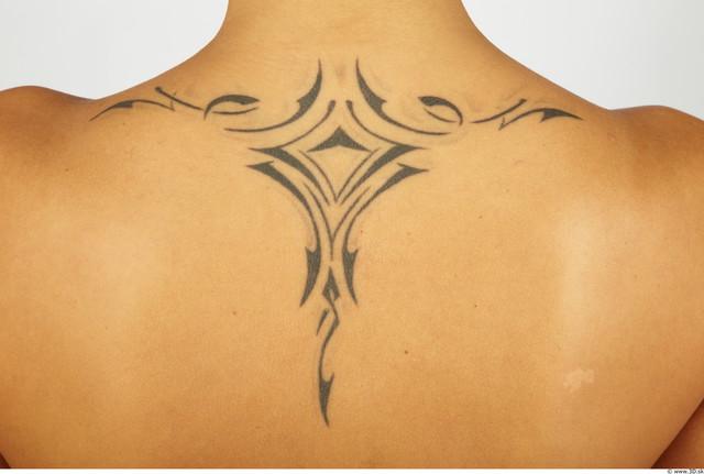 Whole Body Bottom Woman Tattoo Nude Chubby Studio photo references