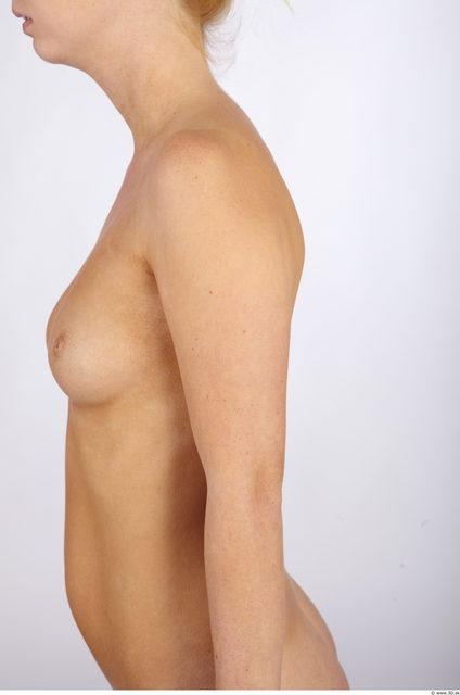 Whole Body Woman White Slim Studio photo references