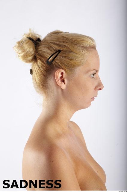 Head Emotions Woman Slim Studio photo references