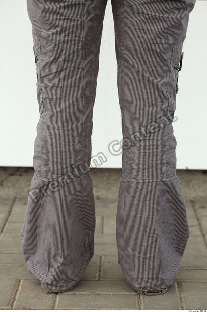 Calf Woman White Casual Trousers Average
