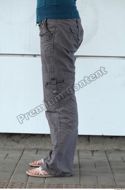 Leg Woman White Casual Trousers Average