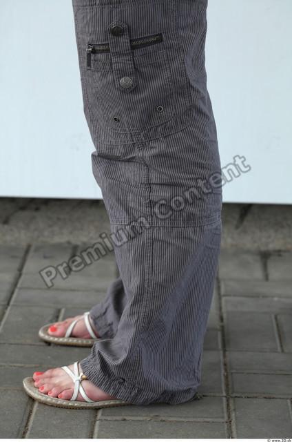 Calf Woman White Casual Trousers Average