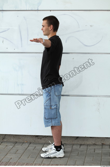 Whole Body Man T poses White Casual Slim