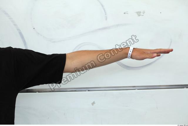 Arm Man White Casual T shirt Slim