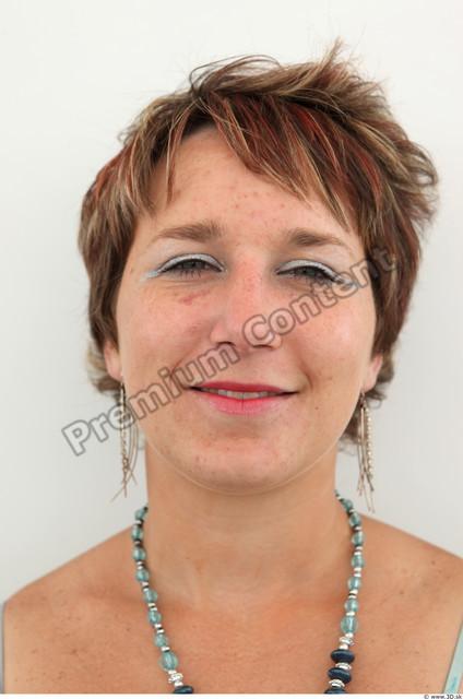 Head Woman White Jewel Chubby