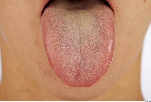 Tongue Woman Average Studio photo references