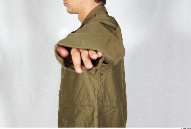 Arm Man White Army Jacket Athletic