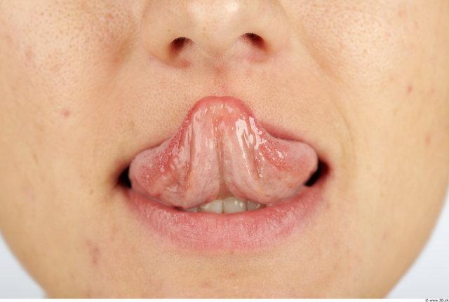 Tongue Woman Animation references Slim Studio photo references
