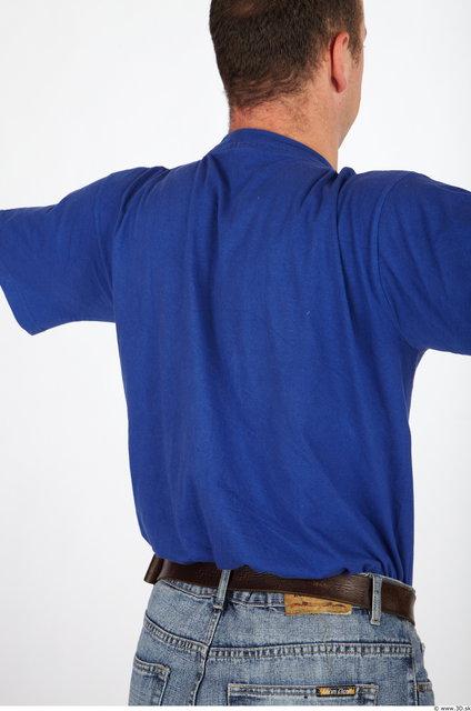 Upper Body Man Casual Shirt T shirt Average Studio photo references