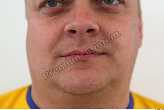 Mouth Man Casual Average Overweight Street photo references