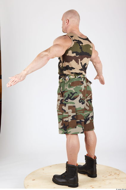 Whole Body Man Animation references Army Muscular Studio photo references