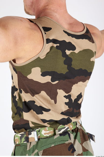 Upper Body Whole Body Man Army Muscular Studio photo references