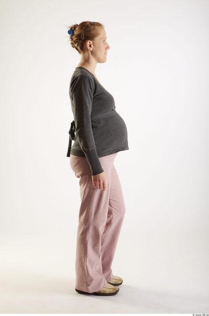 Woman White Pregnant Studio photo references