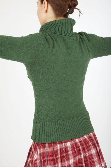 Upper Body Woman Casual Anorak Slim Studio photo references
