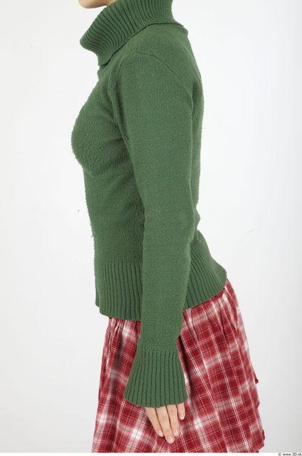 Arm Woman Casual Anorak Slim Studio photo references