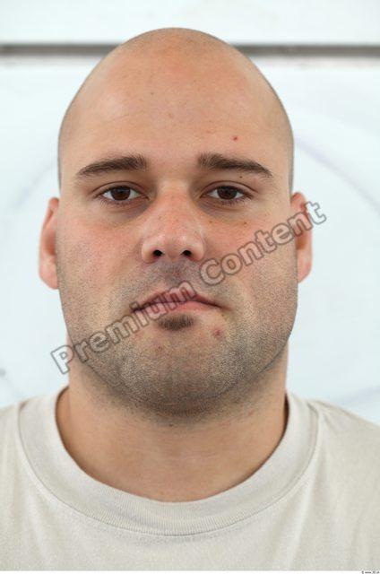 Head Man White Overweight Bearded