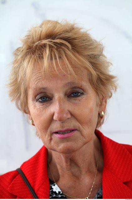 Head Woman White Average Wrinkles