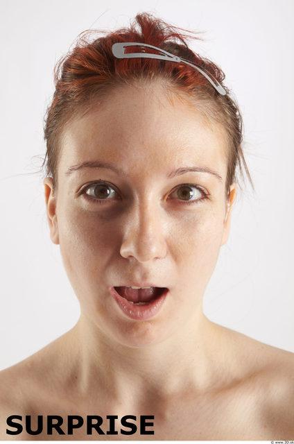 Head Emotions Woman White Slim