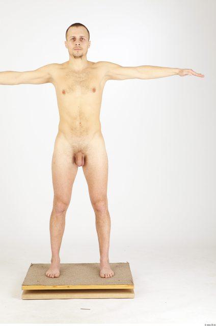 Whole Body Man T poses Nude Average Studio photo references