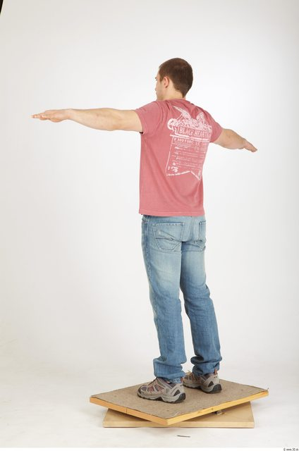 Man T poses Tattoo Casual Athletic Studio photo references