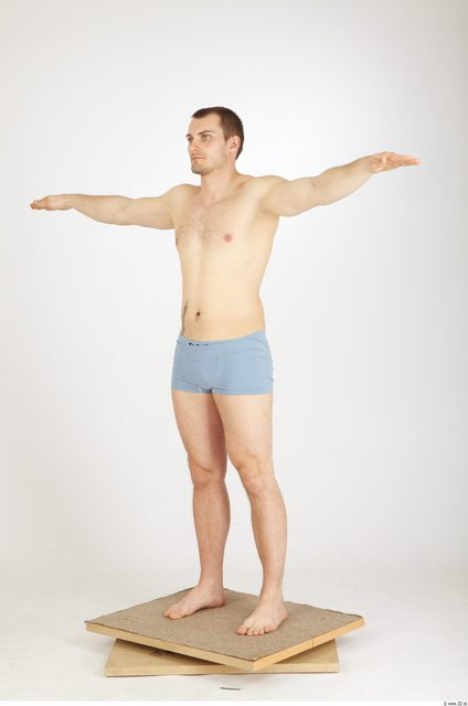 Whole Body Man T poses Tattoo Casual Underwear Athletic Studio photo references