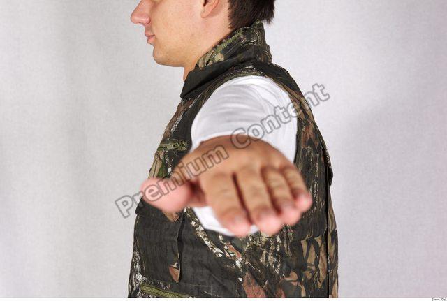 Arm Man Army Vest Athletic Studio photo references