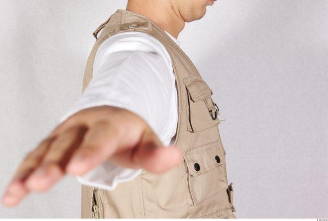 Arm Man White Army Vest Athletic