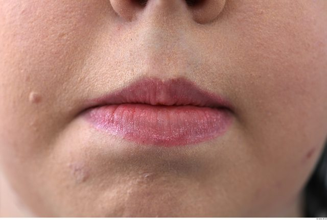 Mouth Woman White Overweight