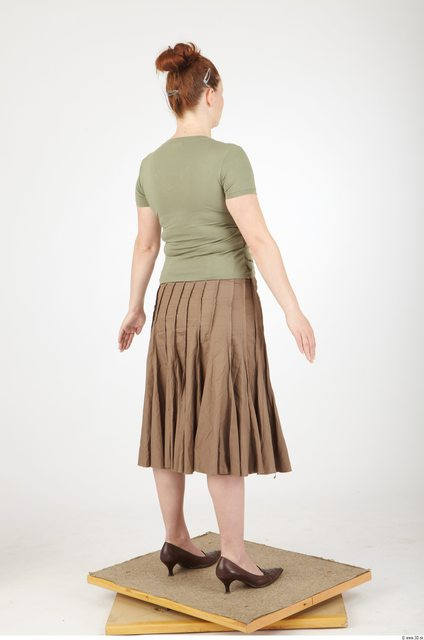 Whole Body Woman Animation references Casual Overweight Studio photo references