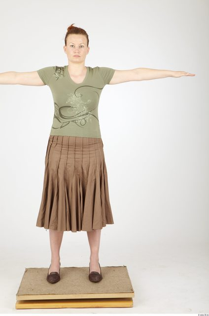 Whole Body Woman Animation references T poses Casual Overweight Studio photo references