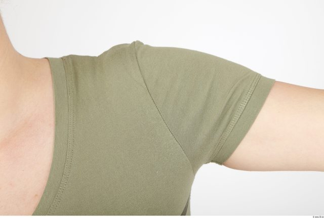 Arm Whole Body Woman Animation references Casual Shirt T shirt Overweight Studio photo references