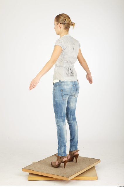 Whole Body Woman Animation references Casual Average Studio photo references