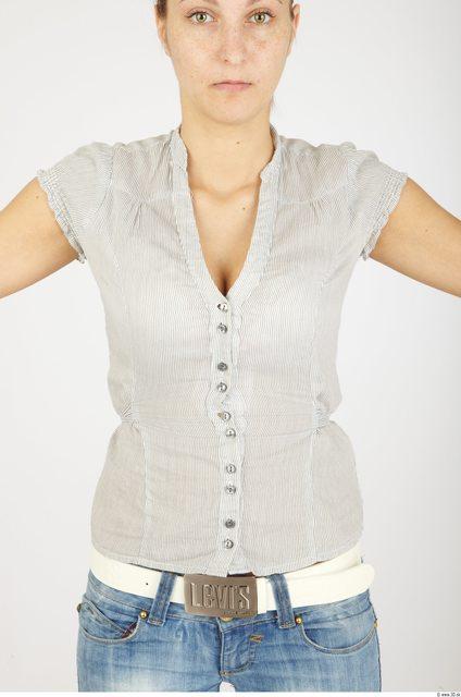 Upper Body Woman Casual Average Studio photo references