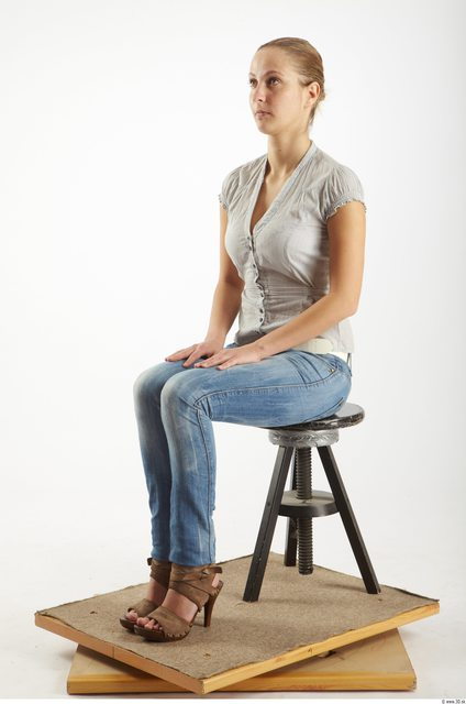 Whole Body Woman Artistic poses White Casual Average