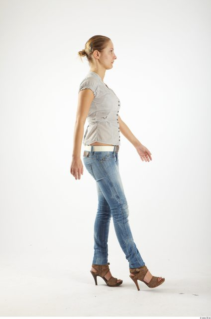 Whole Body Woman Animation references White Casual Average