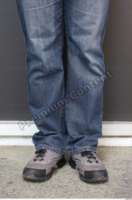 Calf Man White Casual Jeans Chubby