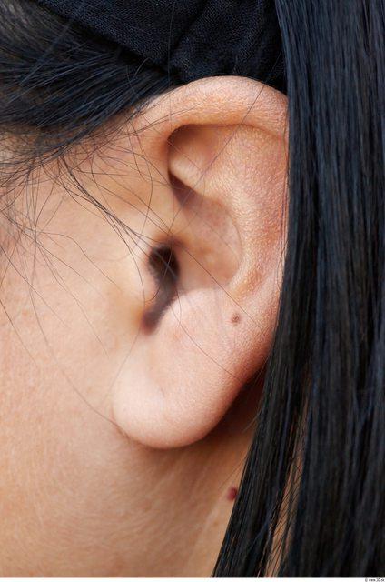 Ear Head Woman Slim Average Street photo references