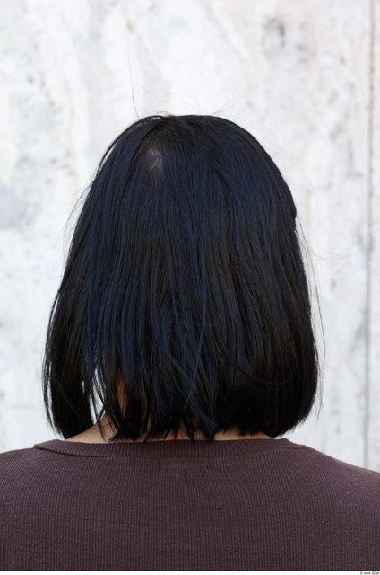 Head Hair Woman Slim Average Street photo references