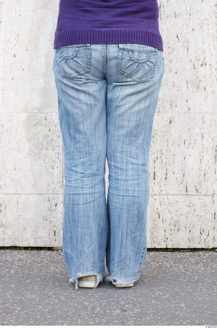 Leg Woman White Casual Jeans Overweight