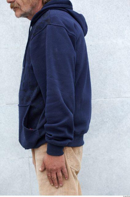 Arm Man White Casual Sweatshirt Slim