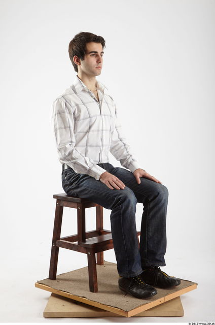 Whole Body Man Artistic poses White Casual Athletic