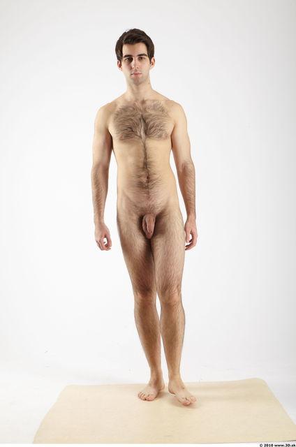 Whole Body Man Animation references White Hairy Nude Athletic