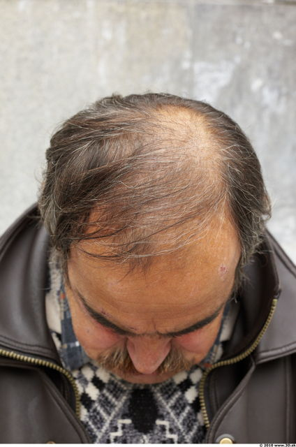 Head Hair Man Casual Average Overweight Bearded Bald Street photo references