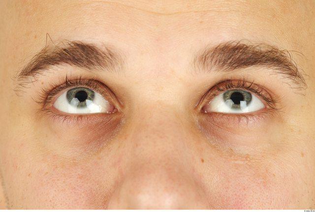 Eye Whole Body Man Casual Chubby Bald Studio photo references