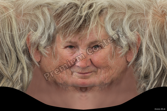 Head Woman White Head textures Wrinkles
