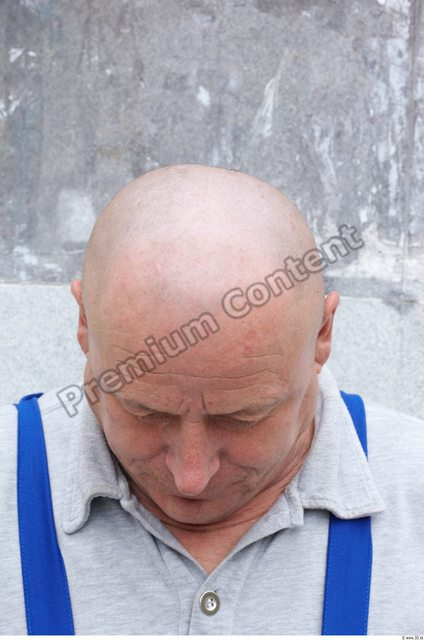 Head Man White Overweight Bald
