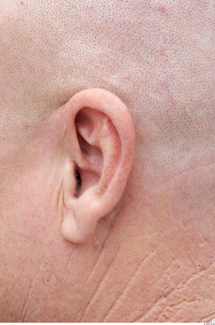 Ear Man White Overweight Bald