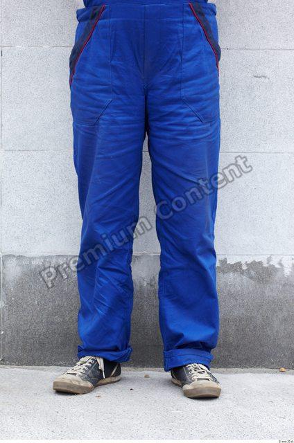 Leg Man White Uniform Overal Overweight