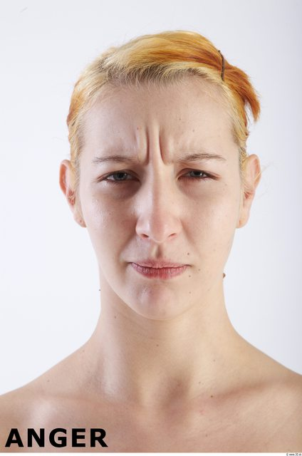 Face Emotions Woman White Average
