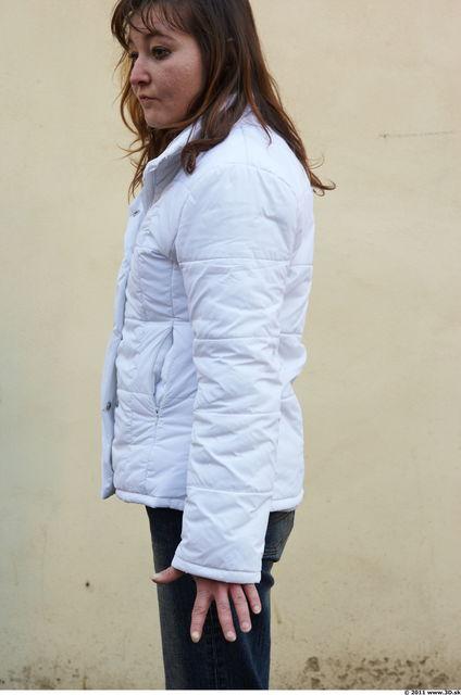 Arm Woman White Casual Windbreaker Slim